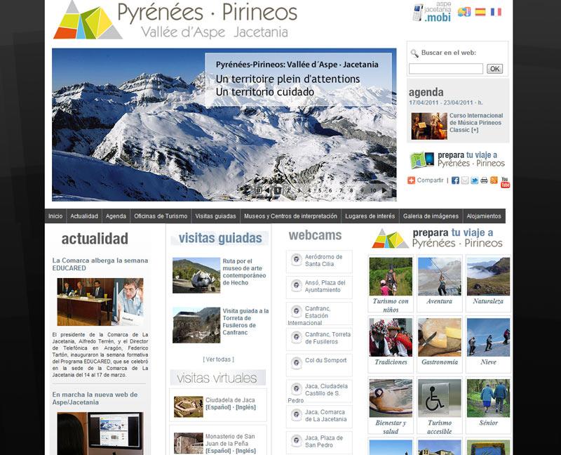 Jacetania y el valle del Aspe crean una web conjunta